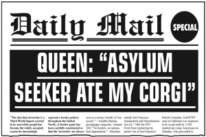 "Queen: ""Asylum Seekers Ate My Corgi"""
