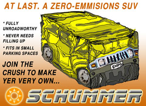 SchHUMMER - the world's first zero emissions SUV