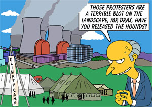 Camp For Climate Action at Drax Power Station