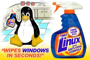 Linux - wipes Windows in seconds