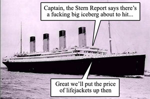 As the Stern reports that we're gonna sink...