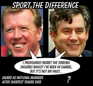 Steve McLaren and Gordon Brown - the similarities