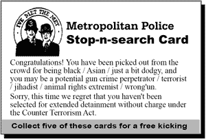 Stop-n-search Card