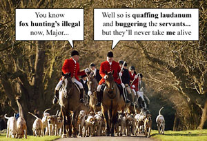 Toffs ignore the Fox Hunting Ban