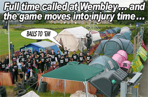 The Wembley protest camp against the privatised 'City Academy' school is down but not out
