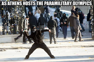 Athens hosts the paramilitary olympics