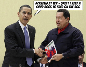 Chavez give Obama some reading material