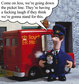 Postman Pat goes on strike